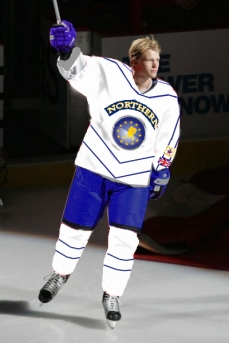 Eric Staal, while he was with Stockholm, was named MVP of the All-Star game in London.