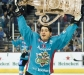 Matt Duchene lifts the EURO Cup after the Belfast Giants won Game 5 in Northern Ireland Thursday.
