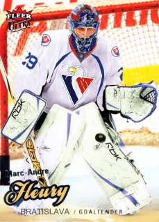 Marc-Andre Fleury will be the number one goalie in Bratislava after signing a two-year deal.