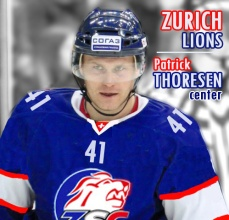 Zurich fourth-line center Patrick Thoresen is among the league leaders in hits and takeaways per minute this season.